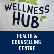 text reads health and counselling centre