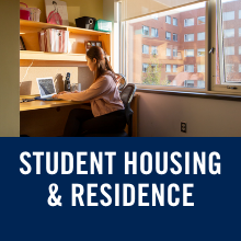 text reads student housing and residence life