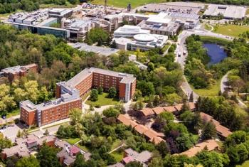 Aerial view of the UTM campus in the summer season