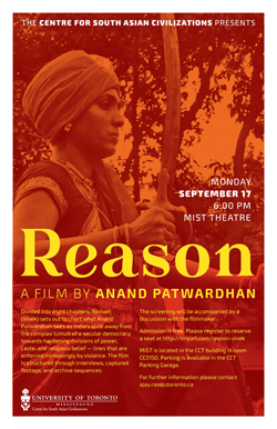 Centre for South Asian Civilizations film screening poster