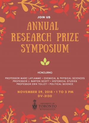 Poster for Annual Research Prize Symposium