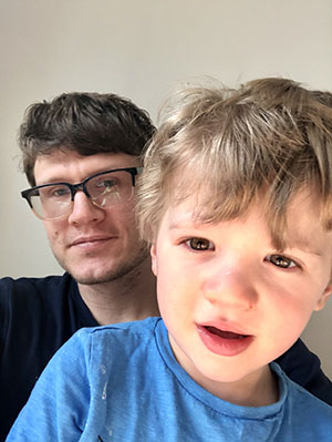 Professor Samuel Ronfard and his son