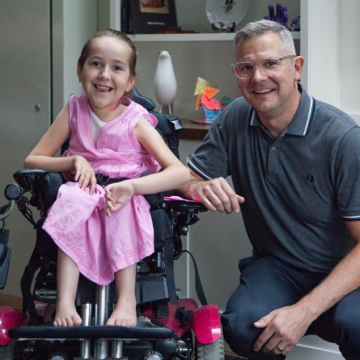 Image of Professor Ron Buliung and his daughter