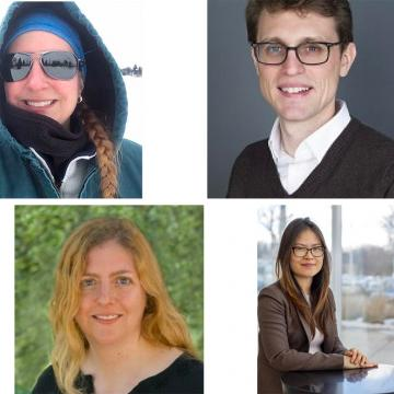 Image of 2020 Research Prize recipients (Laura Brown, Boris Chrubasik, Shannon McCauley and Liye Xie)