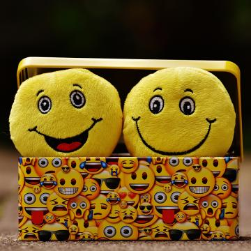 Image of boxful of emojis