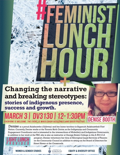 Poster of Feminist Lunch Hour with Denise Booth